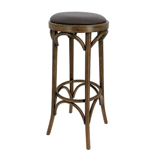 Tabouret New Orleans assise simili cuir