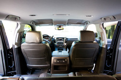 Chevy Suburban View from Backseat