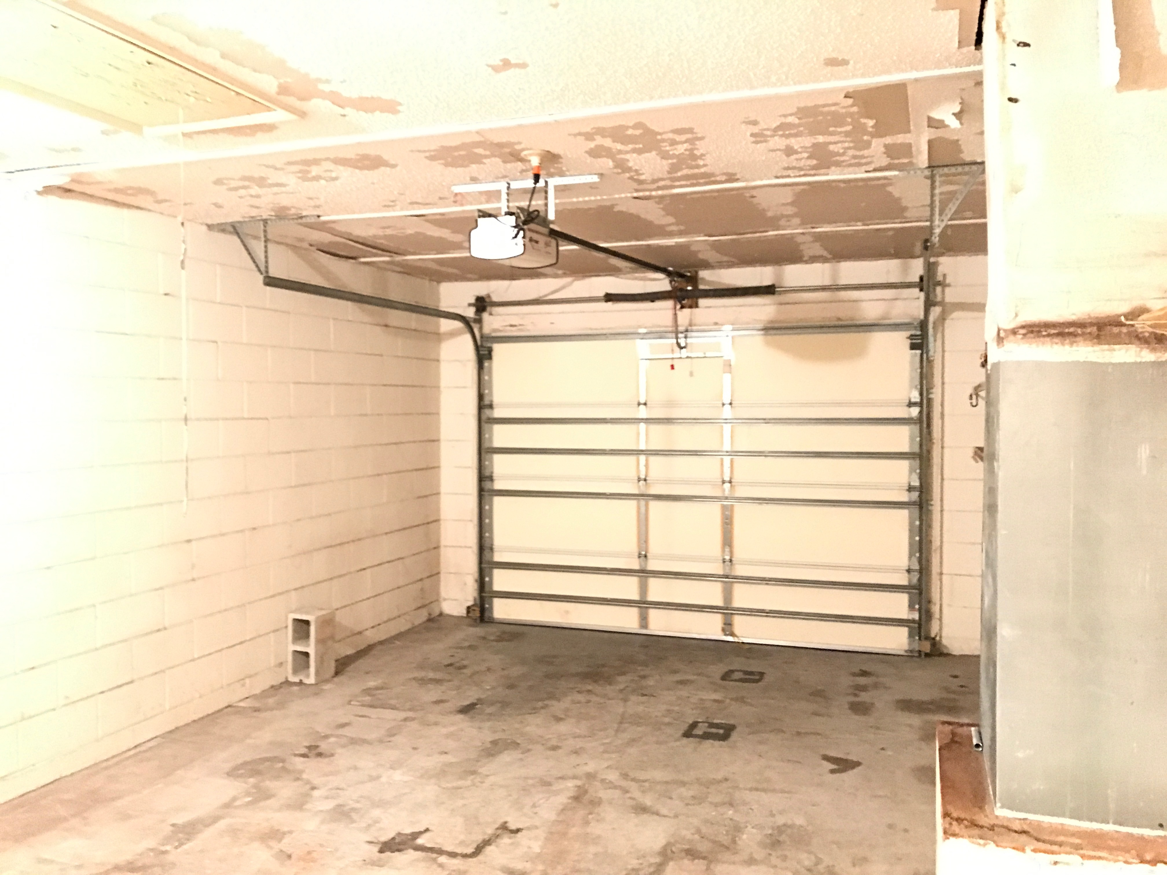 Garage door with opener