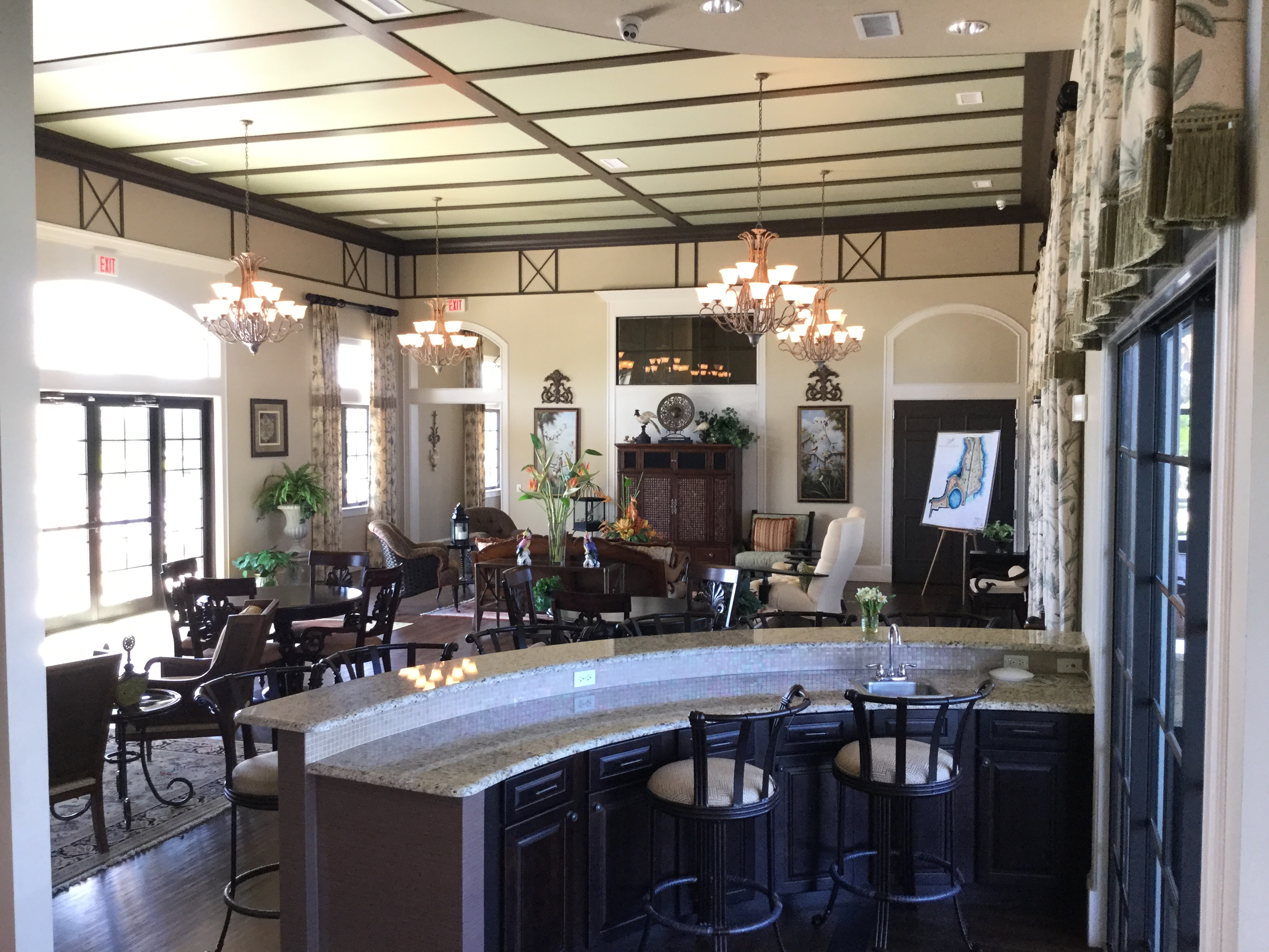 Casual drinks and dining area