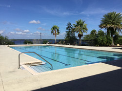 Lakeside swimming pool by the clubhouse.