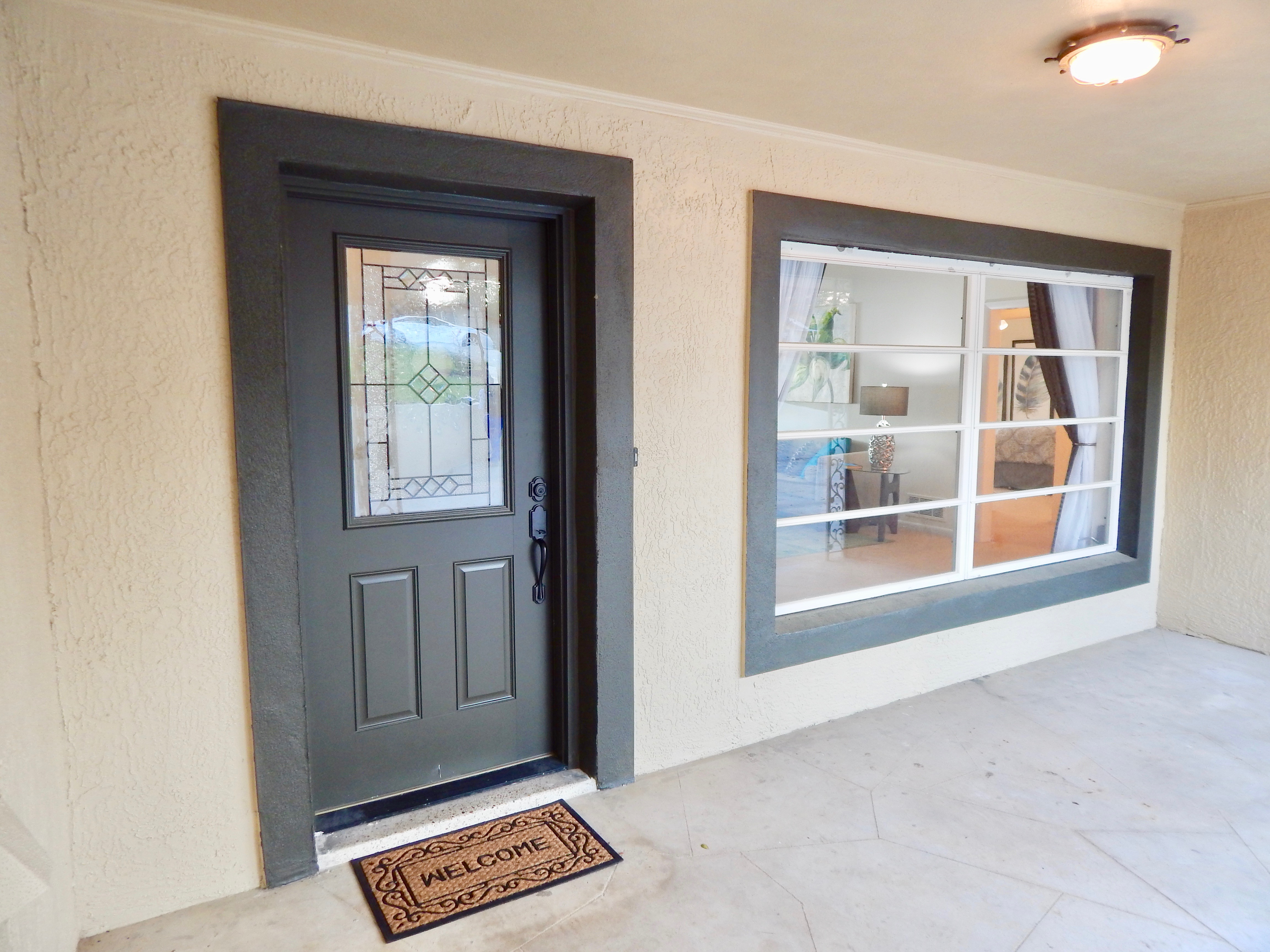 Welcoming front entry