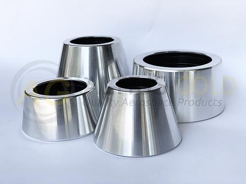 Tailcone Motor Retainers (Bright Aluminium)