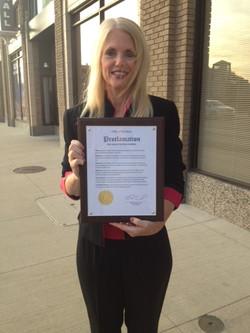 McCarthy Accepts Award