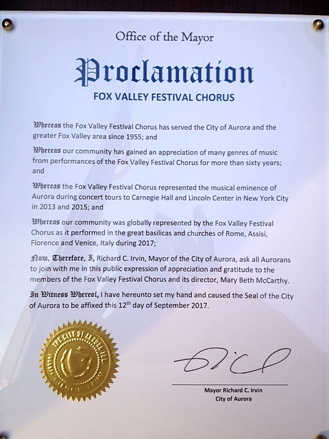 City of Aurora Proclamation