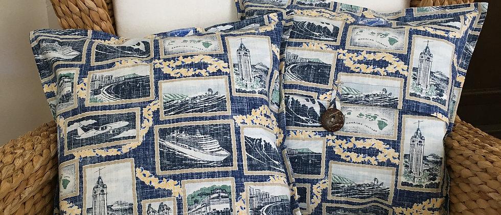 Reyn Spooner Skal Pillow Case