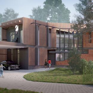 Перспективный вид фасада