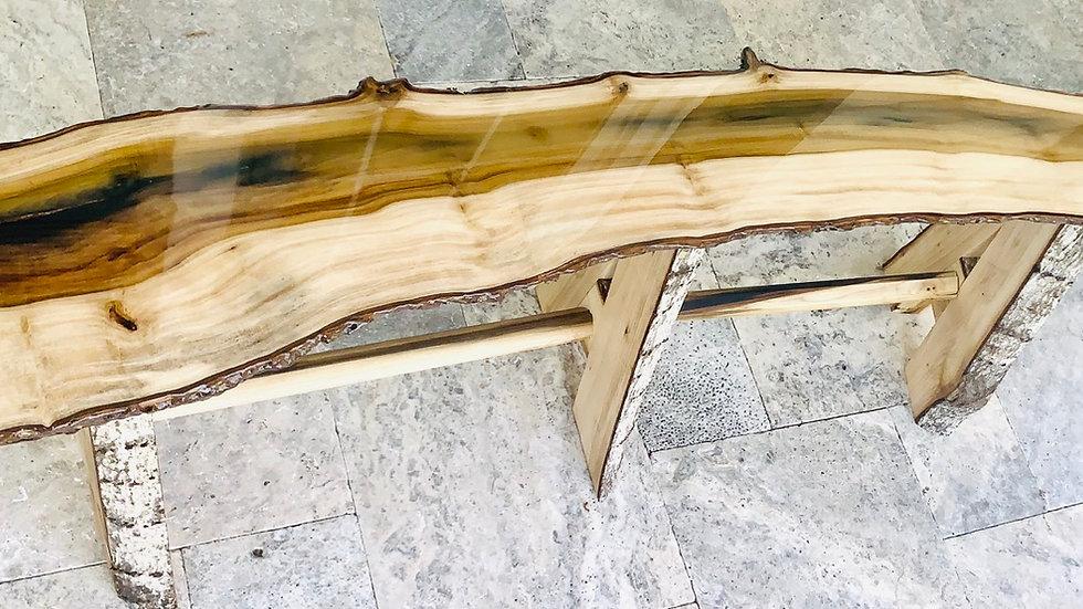 Rainbow poplar bench