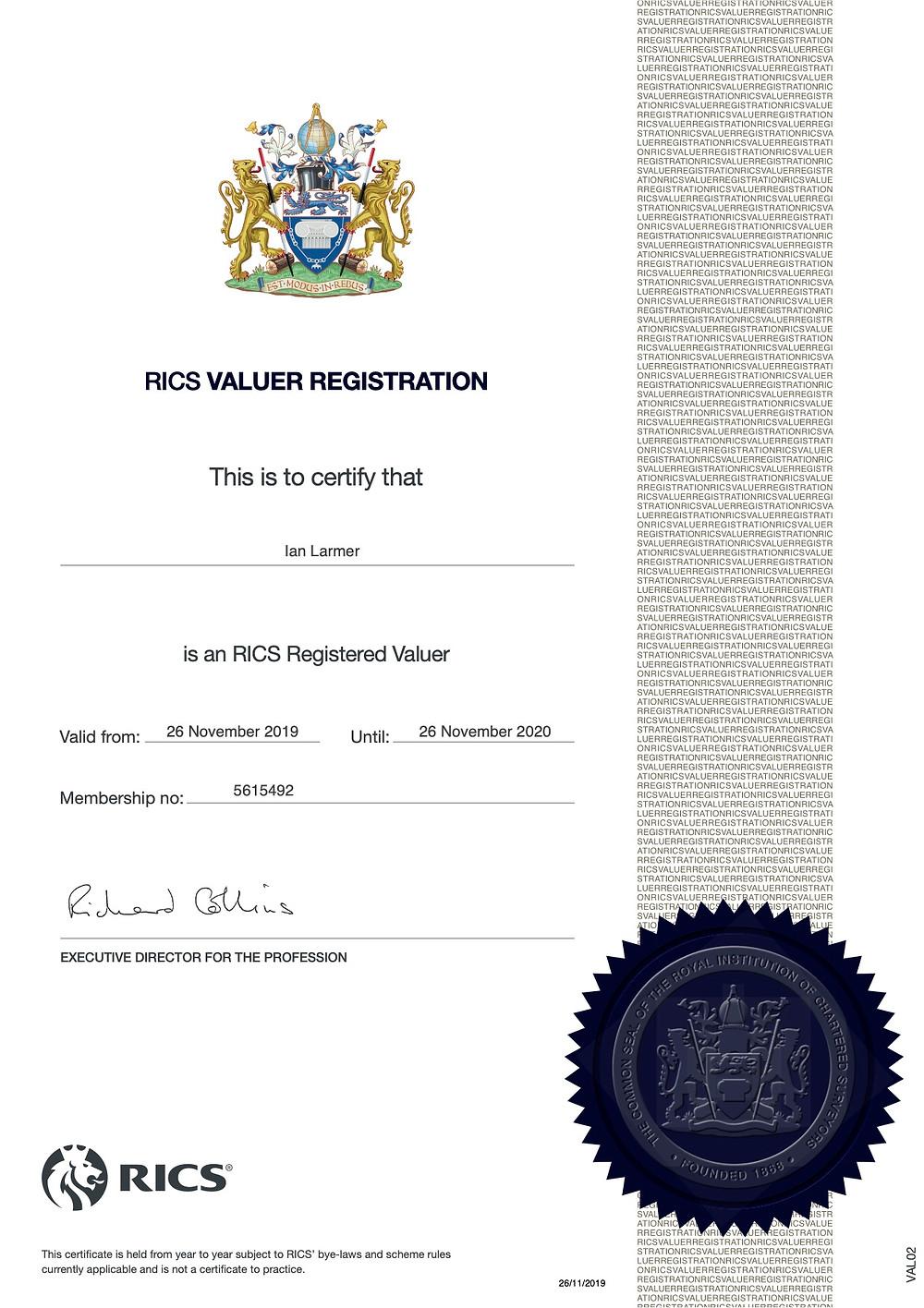 Valuer Registration 2020