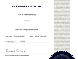 RICS VALUER REGISTRATION 2020