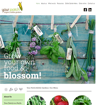 200727 Your Patch Organic - new website