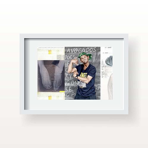 We were never once  (Printed & Framed)
