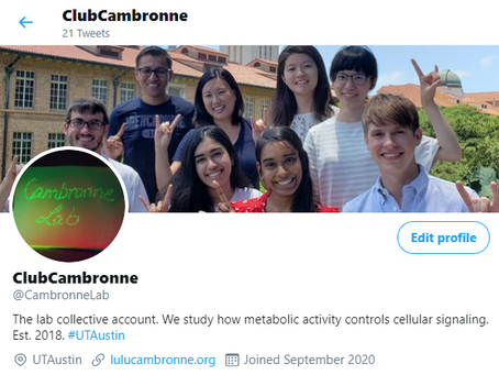 The Cambronne Lab got a Twitter!!