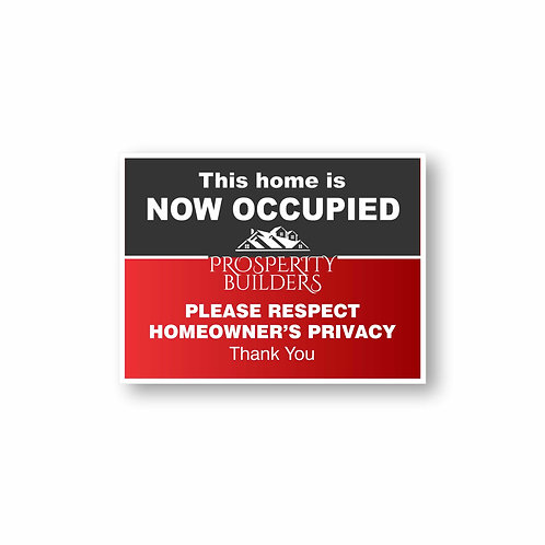 Home Occupied Sign