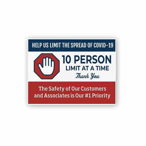 Customer Safety Sign 4