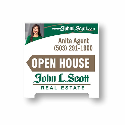 A3 Agent Photo A-Frame Sign
