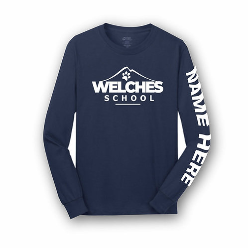 Navy Custom Long Sleeve T