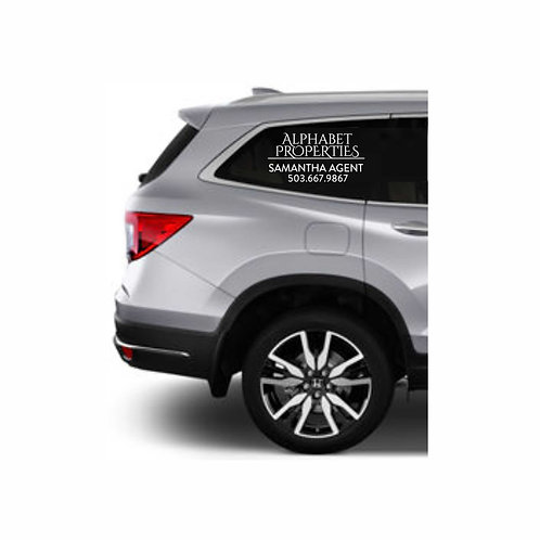 Vehicle Side Window Graphics