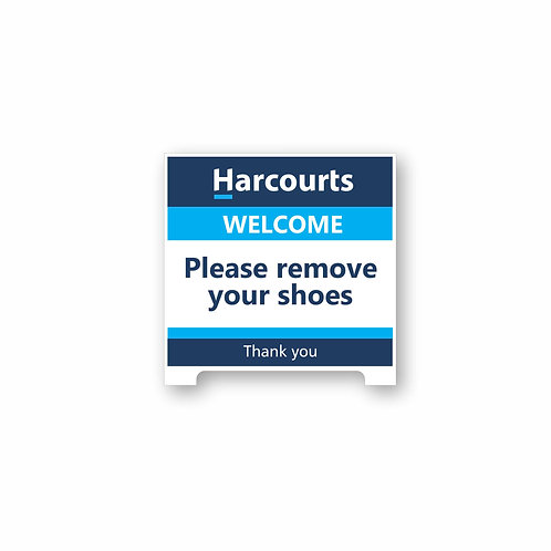 H5 Remove Shoes Tent Sign
