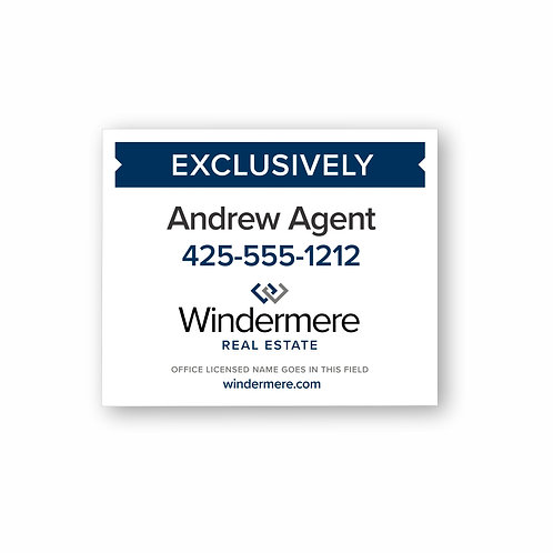 E7 Agent Window / Stake Sign
