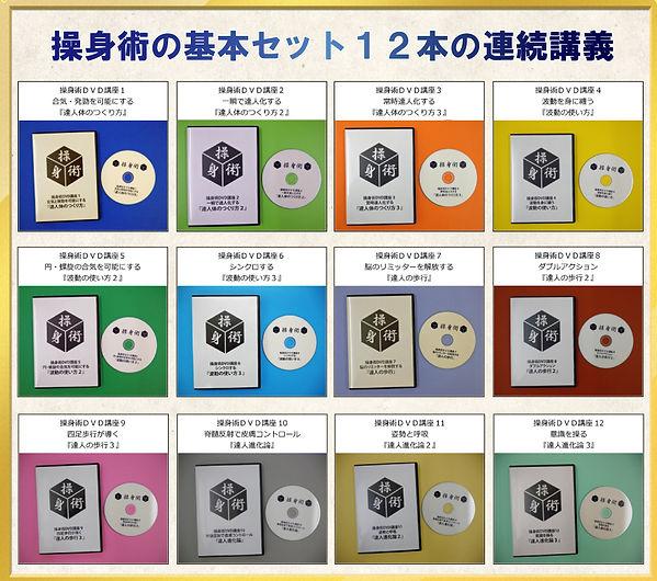 操身術DVD講座12巻セット