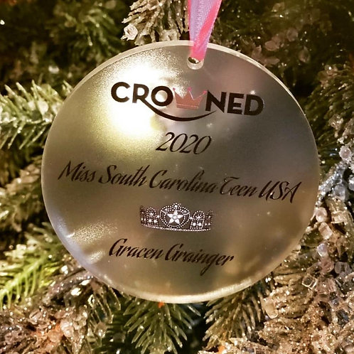CROWNED KEEPSAKE ORNAMENT