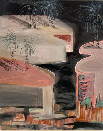 Night walk(2020)-Oil on Canvas (100x190 cm)
