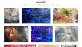 Website for an artist based in UAE