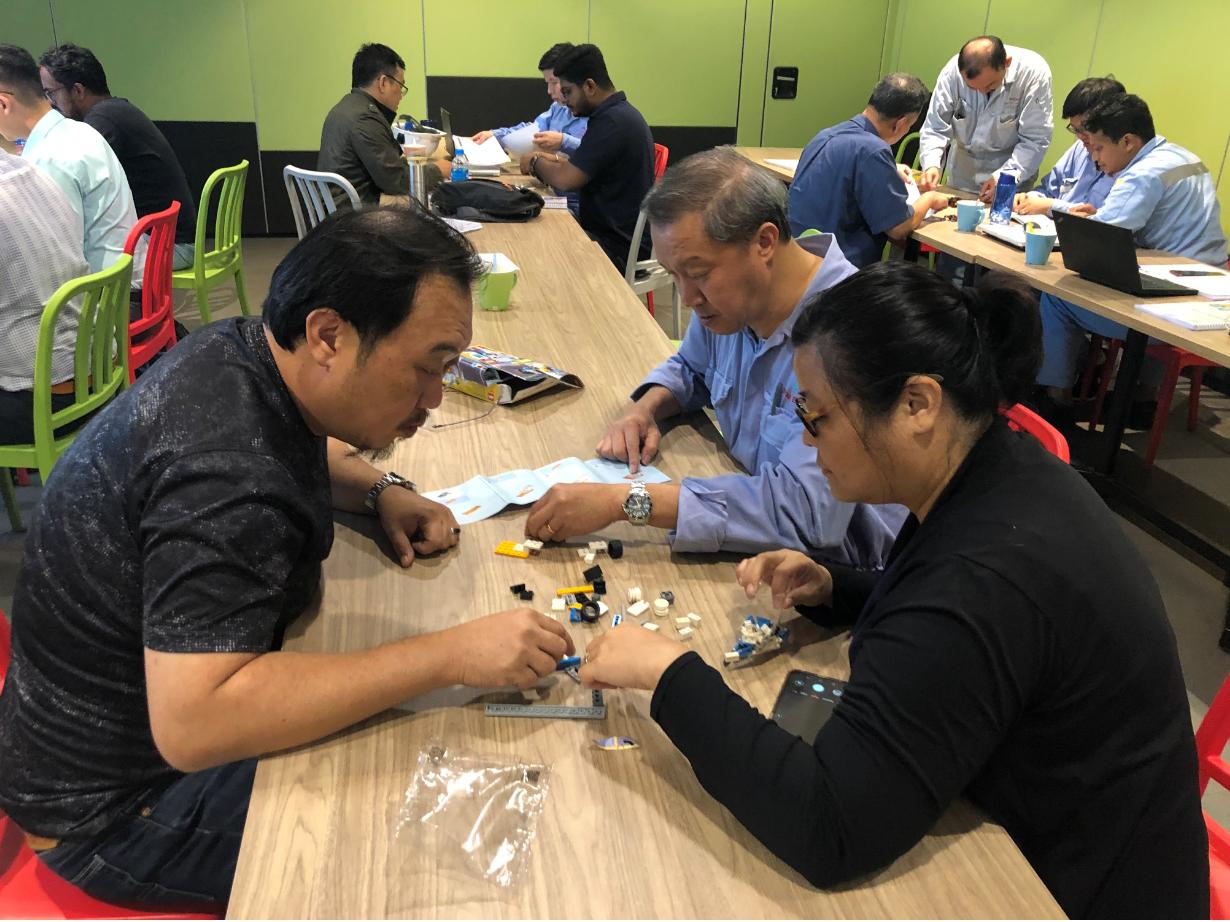 Team Building exercise during IOSH Managing Safely Training for Senoko Power Singapore