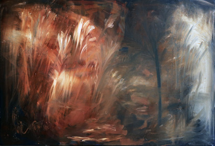 On Light and Land(2020)-Oil on Canvas (92.5x61.5 cm)