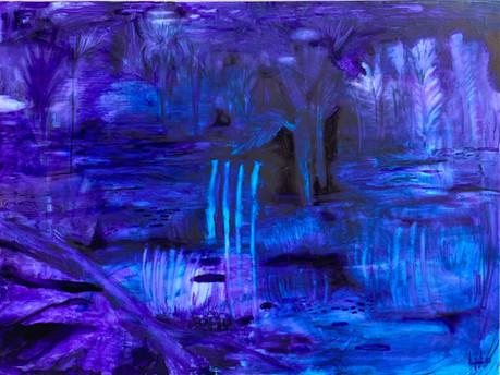 Night Landscape No2(2020)-Oil on Canvas (120 x90cm)