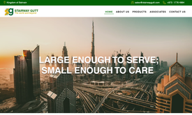Website for construction material trading company in Bahrain