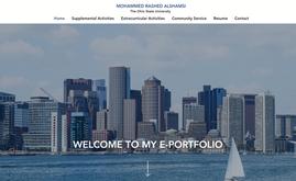 Student portfolio website (USA)