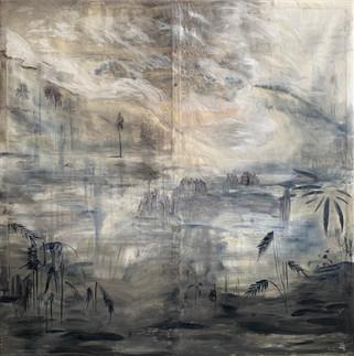 Al Wadi(2020)-Oil on Canvas (200x200 cm)