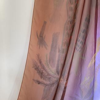 On Light (2020)- Hand painted Acrylic on silk