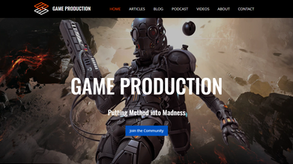 Website for game blogger in UK