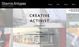 Website for creative activist in UAE
