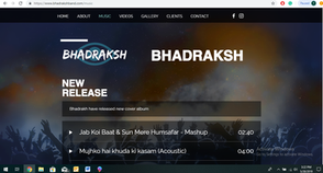 Website & SEO for Indian music band