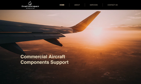 Website for commercial aircraft support company based in USA