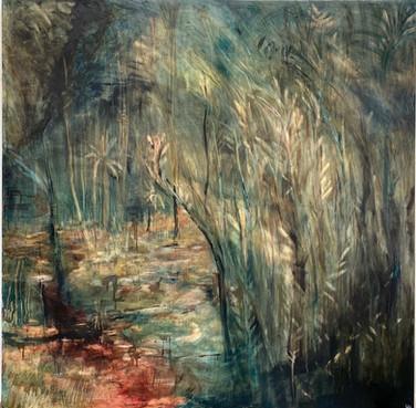 Corner No1 (2020)-Oil on Canvas (141.3 x141 cm)