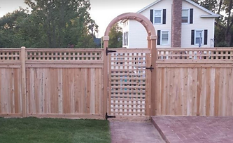 Cedar Arbor & Fence Installation Long Island