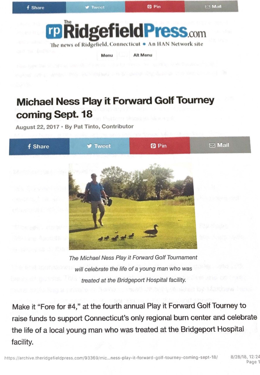 Michael Ness Pay it Forward Tourney