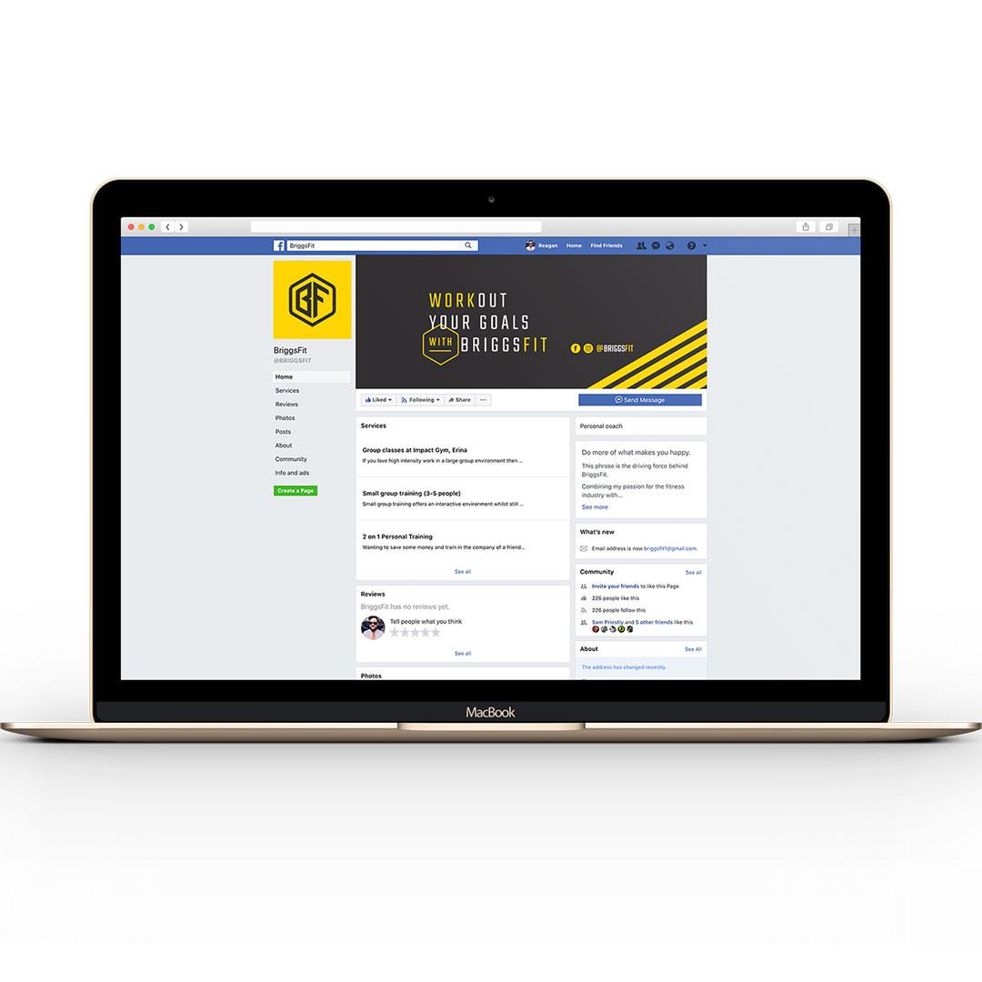 BriggsFit - Facebook branding