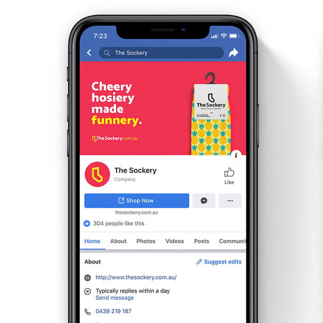 The Sockery - Facebook branding