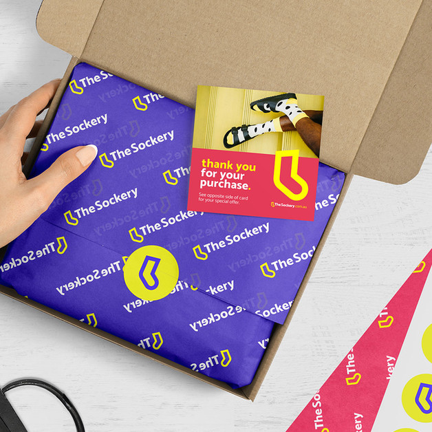 The Sockery - packaging mockup
