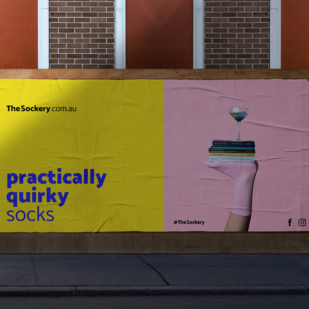 The Sockery - Outdoor billboard 2