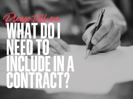 What do I need to include in a client contract?