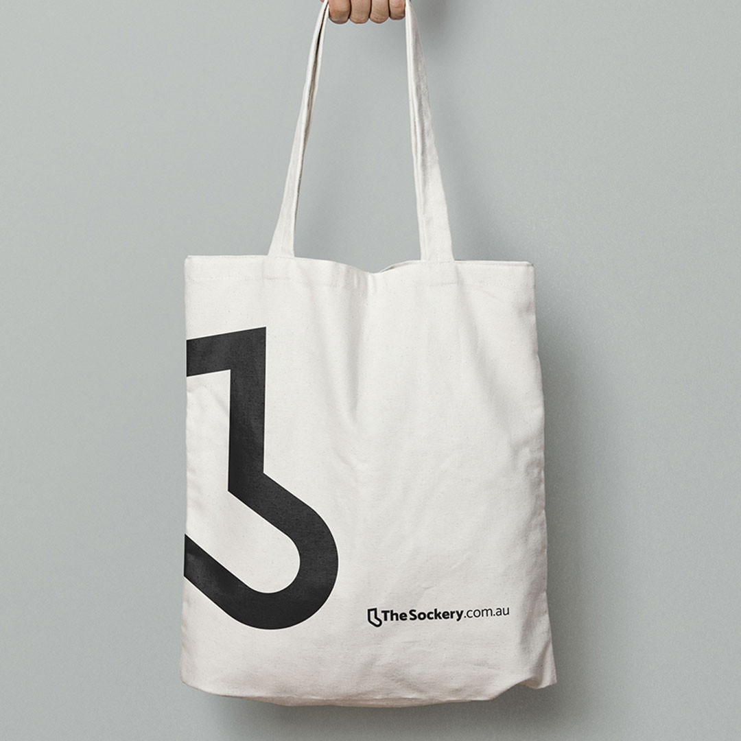 The Sockery - tote bag mockup