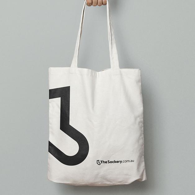 The Sockery - tote bag mockup