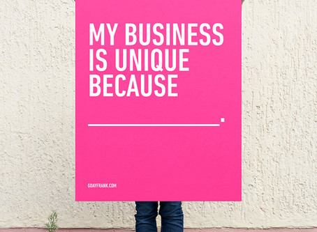 My business is unique because...